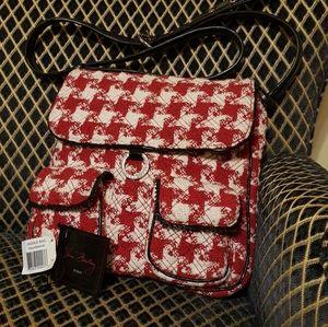 Vera Bradley Houndstooth Saddle Bag Limited